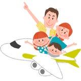Un voyage heureux de famille Images libres de droits