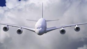 Un vuelo del aeroplano a través de las nubes libre illustration