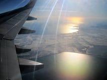 Un vuelo del invierno Fotos de archivo