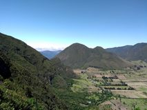 Un vulcano en Quito foto de archivo