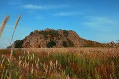 Un vulcano estinto antico Immagine Stock