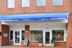 Un Wells Fargo Retail Bank Branch images libres de droits