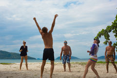 Un winer del voleibol de playa Fotos de archivo libres de regalías