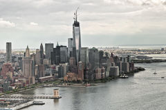 Un World Trade Center in costruzione Immagini Stock Libere da Diritti