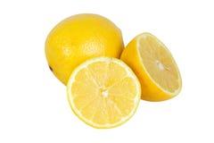 Un y dos limones de las mitades Foto de archivo
