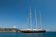 Un yacht australiano nel mare ionico fuori di Zacinto fotografia stock