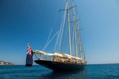 Un yacht australiano nel mare ionico fuori di Zacinto fotografie stock