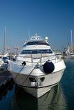 un yacht blanc Photo libre de droits