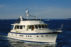 Un yacht intéressant Image stock