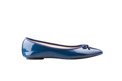 Un zapato azul Imágenes de archivo libres de regalías