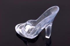 Un zapato de cristal fotografía de archivo