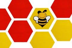 Una abeja bastante de madera Fotos de archivo