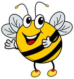 Una abeja feliz Imagenes de archivo