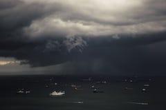 Una advertencia de la tormenta Foto de archivo libre de regalías