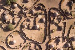 Una aldea africana Foto de archivo libre de regalías