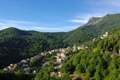 Una aldea del porta en Córcega Fotografía de archivo