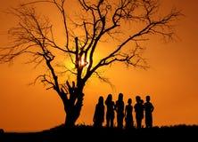 Una amistad de los niños fotos de archivo libres de regalías