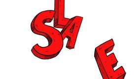 Una animación de a del discurso cómico de la venta stock de ilustración