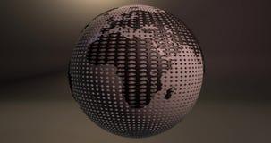 Una animación de la tierra del planeta que parece una bola del golf ilustración del vector