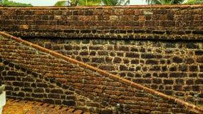 Una arquitectura antigua en el fuerte de Goa Fotografía de archivo