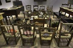 Una aula vieja Foto de archivo libre de regalías