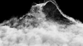 Una avalancha de humo formada después de una explosión fuerte Contiene el canal alfa almacen de video