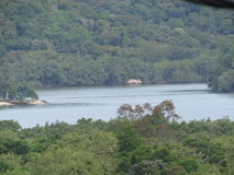 Una bahía en DOS Reis - el Brasil de Angra - paisaje Foto de archivo