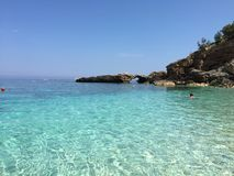 Una baia in Sardegna immagine stock libera da diritti