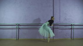 Una ballerina di divertimento nel ballare delle scarpe di dito del piede archivi video