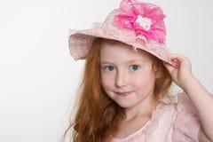 Una bambina allegra di sei anni Immagini Stock Libere da Diritti