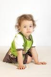 Una bambina era premurosa. Fotografie Stock Libere da Diritti