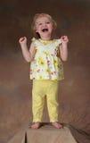 Una bambina felice Fotografia Stock Libera da Diritti
