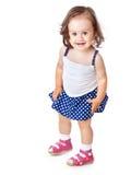 Una bambina sta proponendo Fotografie Stock