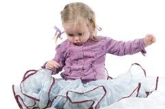 Una bambina in studio Fotografia Stock Libera da Diritti