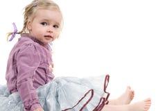 Una bambina in studio Fotografia Stock