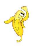 Una banana piacevole Immagine Stock