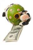 Una banca della mucca Immagini Stock Libere da Diritti
