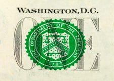 Una banconota del dollaro Immagine Stock Libera da Diritti