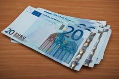 una banconota di venti euro Fotografia Stock Libera da Diritti