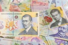 Una banconota rumena di 50 Fotografia Stock Libera da Diritti