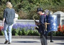 Una banda dell'uomo - Canada 150 celebrazioni Fotografia Stock