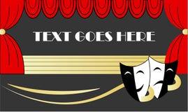 Una bandera del web del teatro ilustración del vector