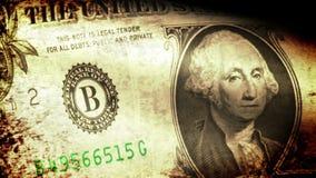 Una bandera que agita, mirada del dólar del grunge