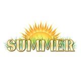 Bandera del verano Fotografía de archivo libre de regalías