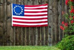 Una bandiera americana di 13 stelle, la bandiera di Betsy Ross Fotografia Stock