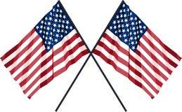 Una bandiera dei due Stati Uniti Illustrazione di Stock
