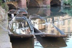 Una barca abbandonata Fotografie Stock Libere da Diritti