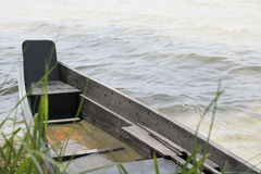 Una barca di legno Immagini Stock Libere da Diritti