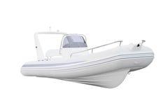 Una barca gonfiabile immagini stock libere da diritti