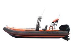 Una barca gonfiabile immagini stock